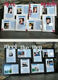 Meet the wedding party...cute idea