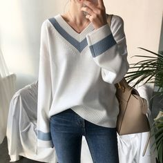 Warm Sweaters, Casual Sweaters, Long Sweaters, Black Sweaters, Sexy Fall Fashion, Korean Fashion, Style Invierno, Pullover Mode, Style Minimaliste