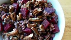 Wild Rice with Roasted Beets and Toasted Pecans