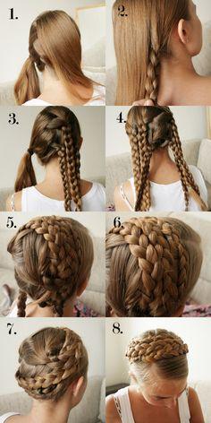 気分はお姫様♡crown braidのヘアアレンジ