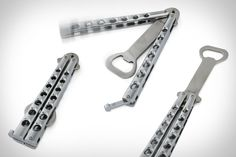 Whether you're an actual barkeep or just an overly-prepared party-goer, the Butterfly Knife Styled Bottle Opener ($7) can help add some flair to your booze-accessing routine. Built from food-grade stainless steel, this sturdy opener functions just like a butterfly knife — and it looks just like one as well, so be careful when you're whipping it out lest you look a little too tough and end up in a roadside ditch.