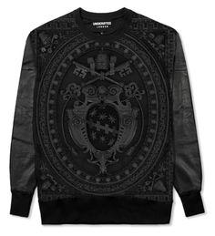 Dark Basilica Leather Sweatshirt | UNDERATED
