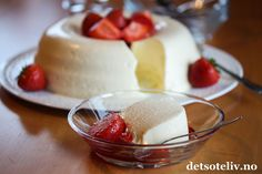 Dere, Panna Cotta, Deserts, Food And Drink, Pudding, Oslo, Baking, Ethnic Recipes, Bread Baking