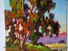 ▶ Tom Brown Plein Air Demonstration, California Light & Color - YouTube