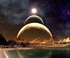 Another World Wallpaper and Hintergrund Wallpaper Science, Planets Wallpaper, Galaxy Wallpaper, Monte Fuji Japon, Look Wallpaper, Alien Planet, Alien Worlds, Universe Art, Space And Astronomy
