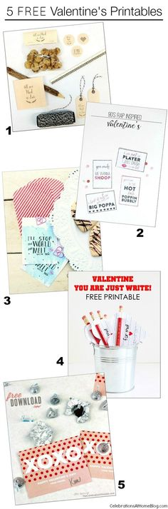 5 fun and FREE Valentine's Day printables