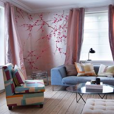 blossom cherry decor spring korean japanese blossoms gournay delicate mural wall bedroom wallpapers interior degournay peint them digsdigs decorating cool