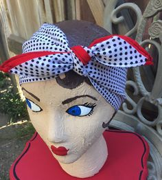dolly bow polka dot retro classic pinup