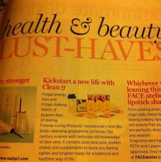 Our clean 9 program has been published on the cosmopolitan magazine, so good to see that our natural products get recognised on the national magazine.