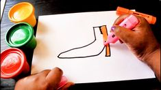 Shoe Coloring Drawing for kids and Toddlers
