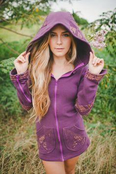 Atara Hoodie ~ Purple ~ 100% Cotton – fourth dimension designs