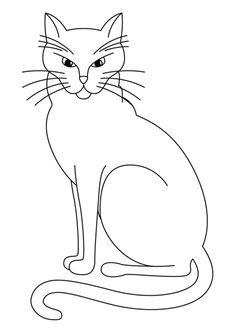 cat color pages printable cat and kitten coloring page cats