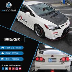 We Have Your #HONDA #CIVIC Now!  #JinJidosha #Japan #BestCarSellingCompany #UsedCars #Japanese #RHD #Drive #Carsforsale #Sale #Automatic #AT #Powerwindows #RearSpoiler #AlloyWheels #Drive #SuperCar #White #Carswithoutlimits #Speedway #Vehicles #Auto #SportsCar #Cars #Dealership #Offer