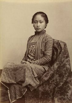 Indonesia ~ Kassian Cephas Indonesia 1845-1912 Young Javanese Woman c. 1885 Albumen silver Photograph 13.7 x 9.8 cm Collection National Gallery of Australia (Via Art Blart )