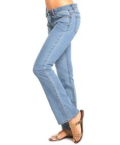 Another great find on #zulily! Blue Lite Bootcut Jeans by RUE BLUE #zulilyfinds