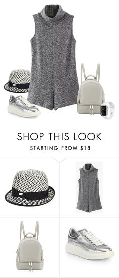 """""""Gray and Soft"""" by michelletheaflack ❤ liked on Polyvore featuring Calvin Klein, MICHAEL Michael Kors, Alexander McQueen and backpack"""
