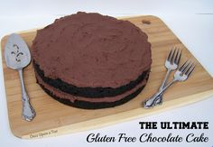 Once Upon a Tier: The Ultimate Gluten Free Chocolate Cake {Recipe}