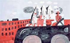 Riding Around (1969) by American artist Philip Guston.