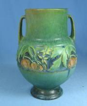Antique  Roseville BANEDA Double Handle Vase