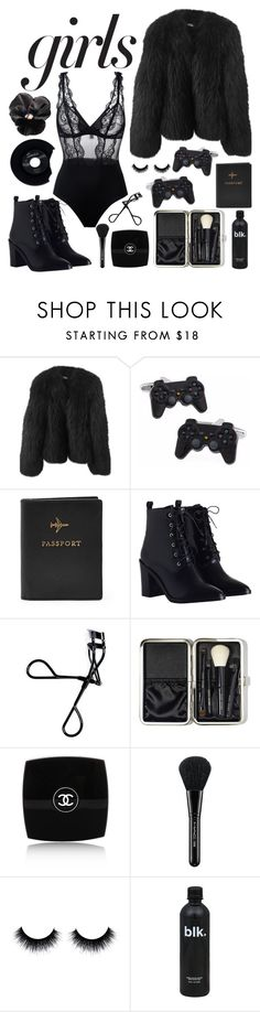 """""""Black orchid"""" by jmisar ❤ liked on Polyvore featuring Balenciaga, FOSSIL, Zimmermann, Bobbi Brown Cosmetics, Chanel, MAC Cosmetics and La Perla"""