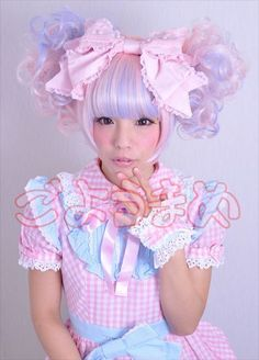LOLITA JAPENESE    163 notes tags lolita sweet lolita kawaii pink hair purple hair japan ...