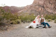 Just Married! #nelsonghosttownwedding #lasvegasweddingphotographer #vegaswedding #desertwedding