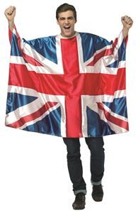 UK Flag Tunic Adult Unisex Costume - 321612 #uk #ukflag #unionjack #british #britishflag #ukcostume