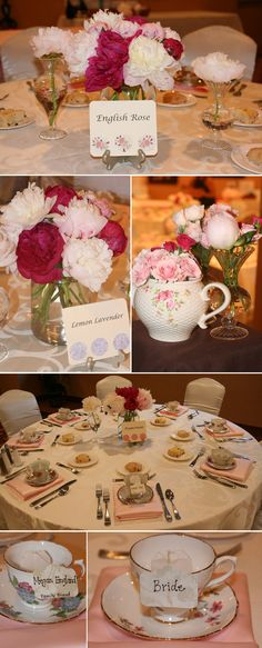 Beautiful Pink and white peonies mixed with spray roses, created by Flourish Event Design