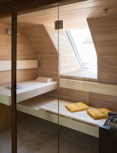 minisauna im schlafzimmer, mini sauna in der wohnung, kleine sauna ... - Sauna Designs Zu Hause