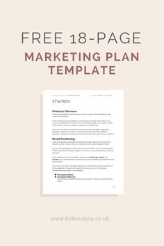 Get a FREE Marketing Plan Template