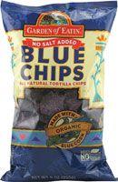 Garden of Eatin' Blue Chips -- no salt. Yum