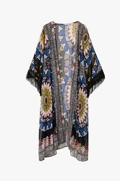 Dazed Long Printed Kimono