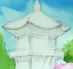 [풍경수채화 기초 상식] 풍경화 속 집에 대하여~ : 네이버 블로그