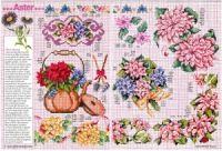 """ru / tymannost - Альбом """"Encyclopedie du point de croix ( Fleurs arbres et feuilles )"""" Le Point, Cross Stitch, Russia, Gallery, Dots, Flowers, Leaves, Punto Croce, Crossstitch"""