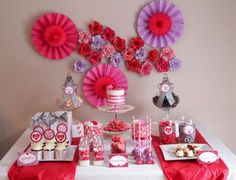 Valentine's Day Sweet Table with Lots of REALLY CUTE Ideas via Kara's Party Ideas Kara Allen | KarasPartyIdeas.com #ValentinesDayParty #Vale...