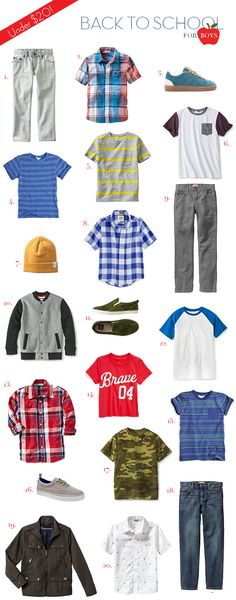 20 back to school finds for $20 or less: boys!