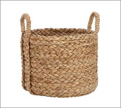 Beachcomber Extra-Large Round Basket from Pottery Barn for laundry. This one will be for colors, the rectangular size basket for whites.