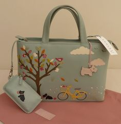 Radley Signature Grab Hand Bag and Coin Purse BNWT 'Sweet Pickings' New   eBay