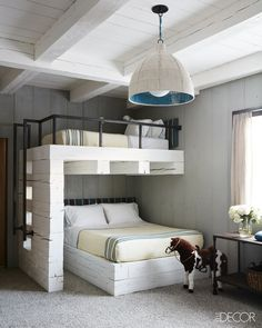 Bunk Beds Adjust, People Do Not. – Bunk Beds for Kids Dream Rooms, Dream Bedroom, Home Bedroom, Kids Bedroom, Bedroom Decor, Decor Room, Warm Bedroom, Bedroom Ideas, Trendy Bedroom