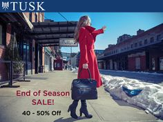 Our #EndOfSeason #Sale is on! #chaseawaythewinterblues with 40-50% off our Fall13 Collections! www.tusk.com/sale/