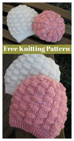Basketweave Hat Beanie Free Knitting Pattern #freeknittingpattern #hat