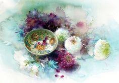 Amazon.co.jp: 永山裕子の透明水彩 花とうつわ (ポストカード・アート・ブック): 永山裕子, Yuko Nagayama: 本