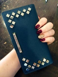 New Rebecca minkoff wallet and Christmas nails