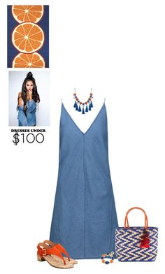 """Orange & Blue"" by sherry7411 ❤ liked on Polyvore featuring J Brand, Red Herring, Ashley Stewart, Jaipur Living, 1st & Gorgeous by Carolee, Nannacay, under100 and polyvoreeditorial"