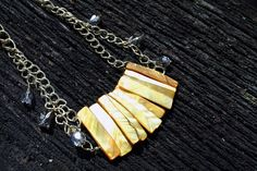 Shells and Crystals Necklace $30.00