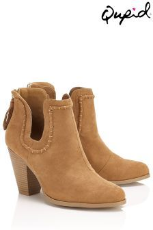Qupid Ankle  Boots