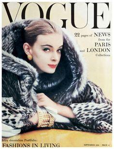 Nena von Schlebrugge Photo Norman Parkinson Nena von Schlebrugge, Vogue cover, September 1958 Photo Norman Parkinson