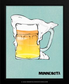 I don't remember my home state being known for beer? But I do like the artist