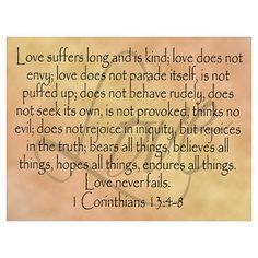 scripture+poem+of+god+love | CafePress > Wall Art > Posters > Framed Bible Verse, Love Poster