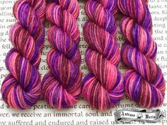 My Queen Mini Skein / Fingering Weight / 75/25 Superwash Wool Nylon Blend Sock Yarn by AstraeaMeris on Etsy
